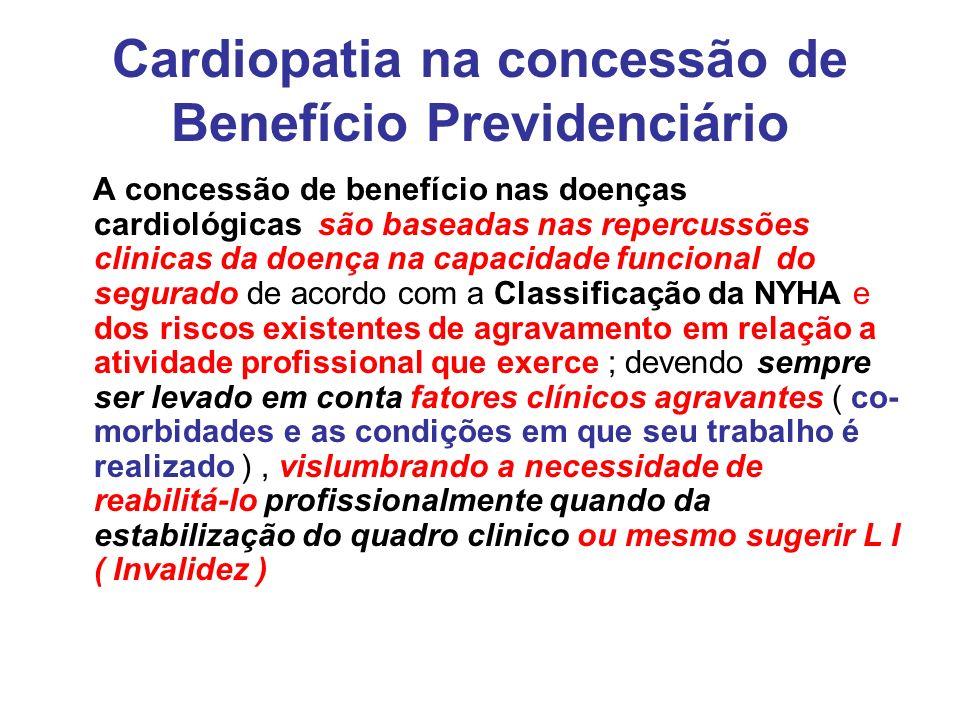 Cardiopatia na concessão de Benefício Previdenciário