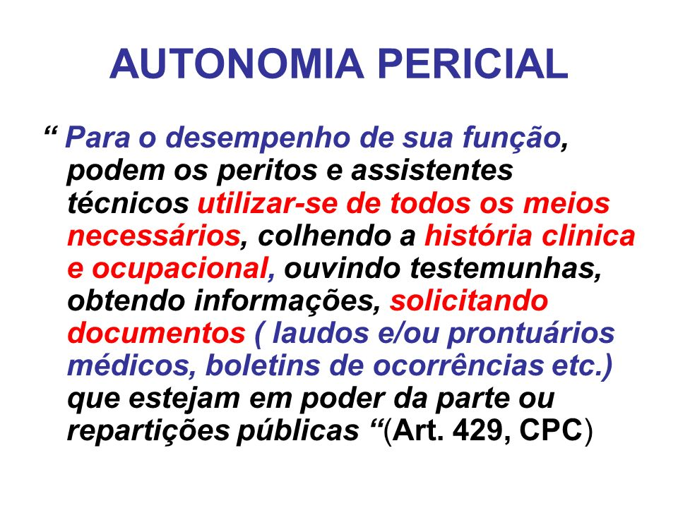 AUTONOMIA PERICIAL