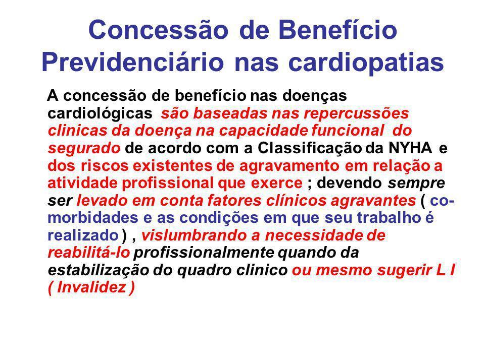 Concessão de Benefício Previdenciário nas cardiopatias