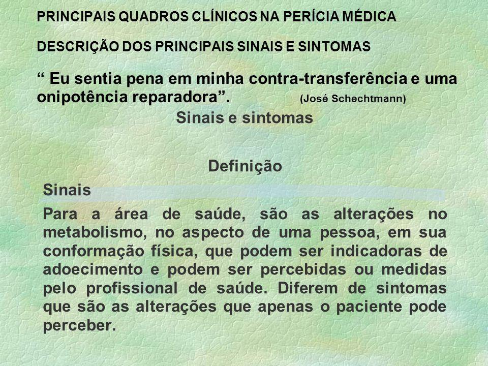 Sinais e sintomas Definição