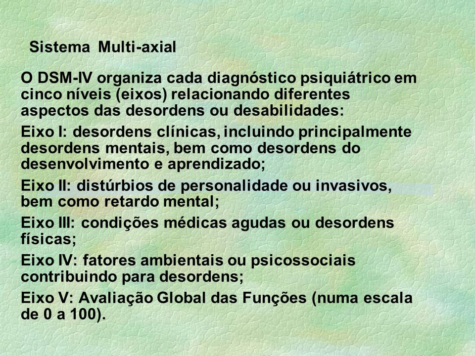 Sistema Multi-axial