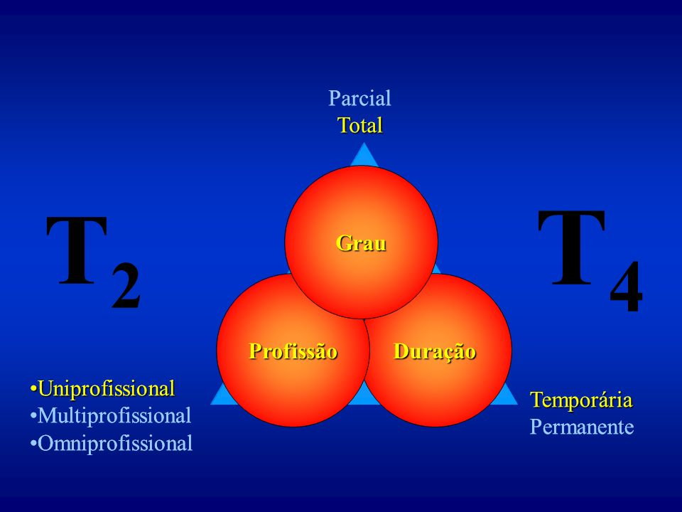 T4 T2 Parcial Total Parcial Total Grau Profissão Duração