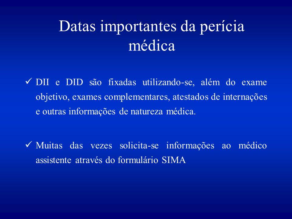 Datas importantes da perícia médica
