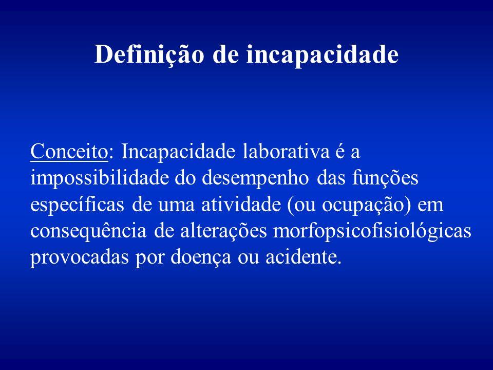 Definição de incapacidade