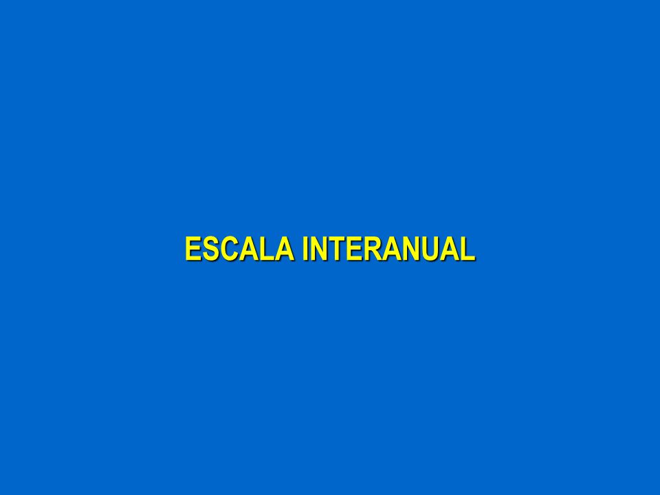 ESCALA INTERANUAL