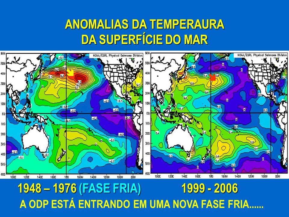 ANOMALIAS DA TEMPERAURA DA SUPERFÍCIE DO MAR
