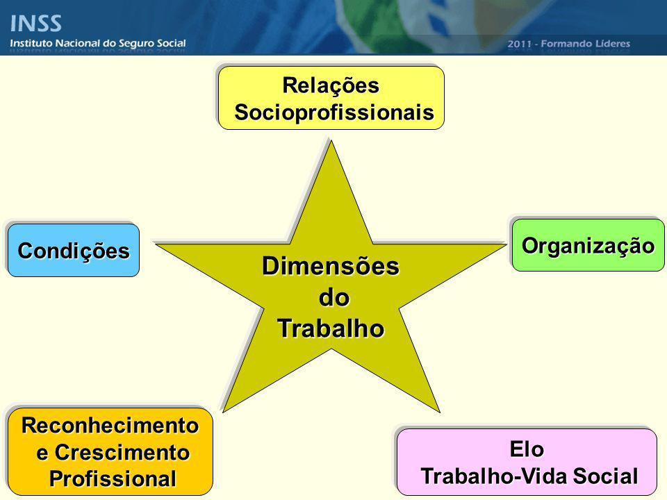 Dimensões do Trabalho Relações Socioprofissionais Organização