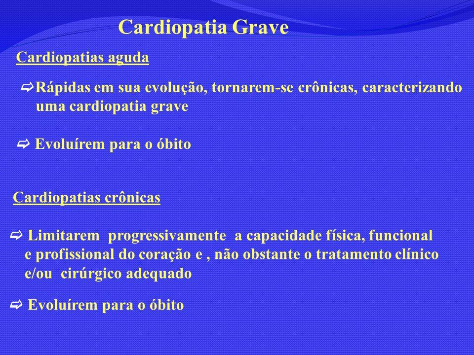 Cardiopatia Grave Cardiopatias aguda