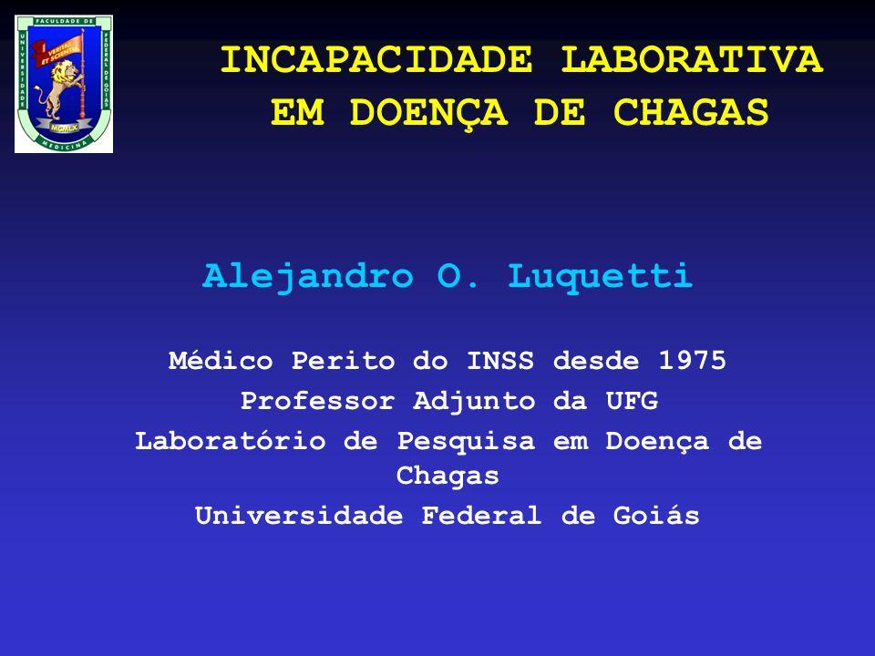 INCAPACIDADE LABORATIVA EM DOENÇA DE CHAGAS