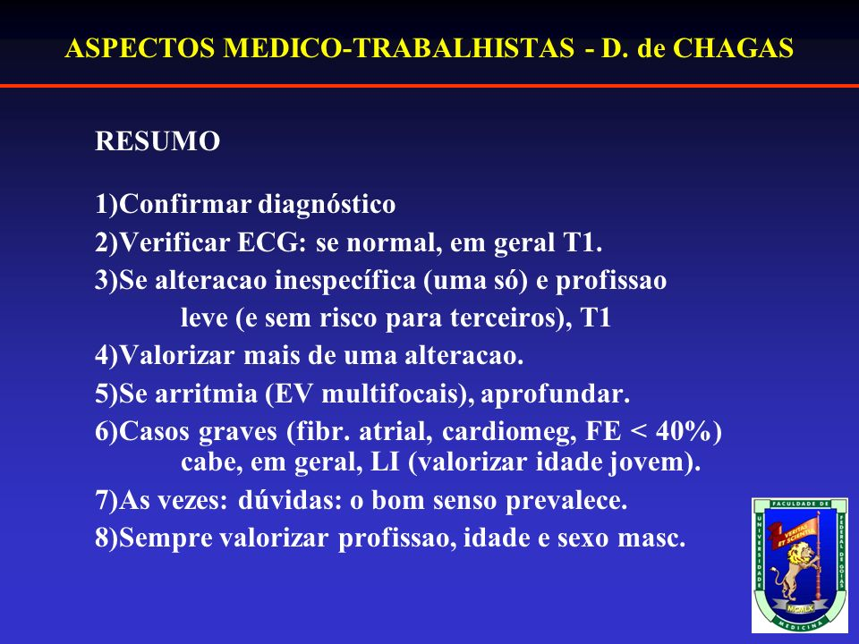 ASPECTOS MEDICO-TRABALHISTAS - D. de CHAGAS