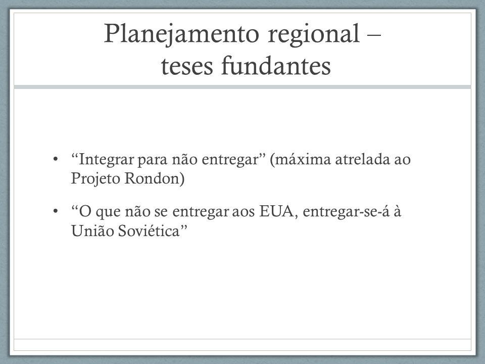Planejamento regional – teses fundantes