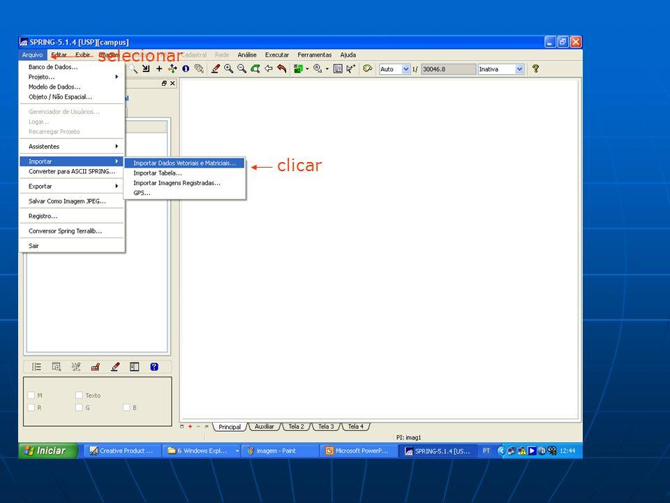 selecionar clicar
