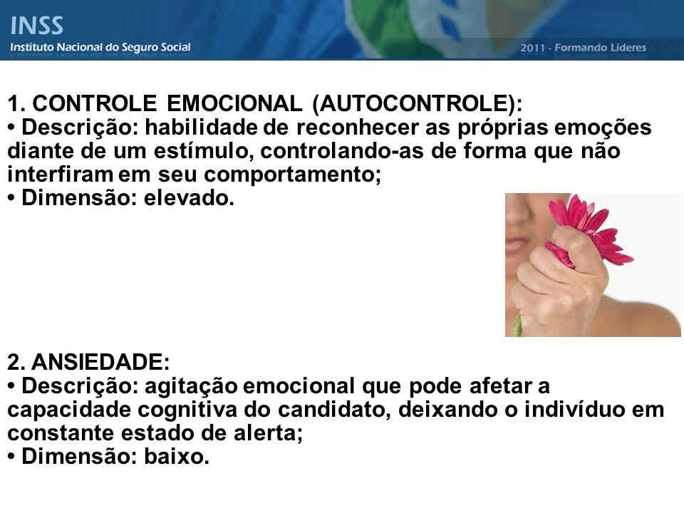 1. CONTROLE EMOCIONAL (AUTOCONTROLE):