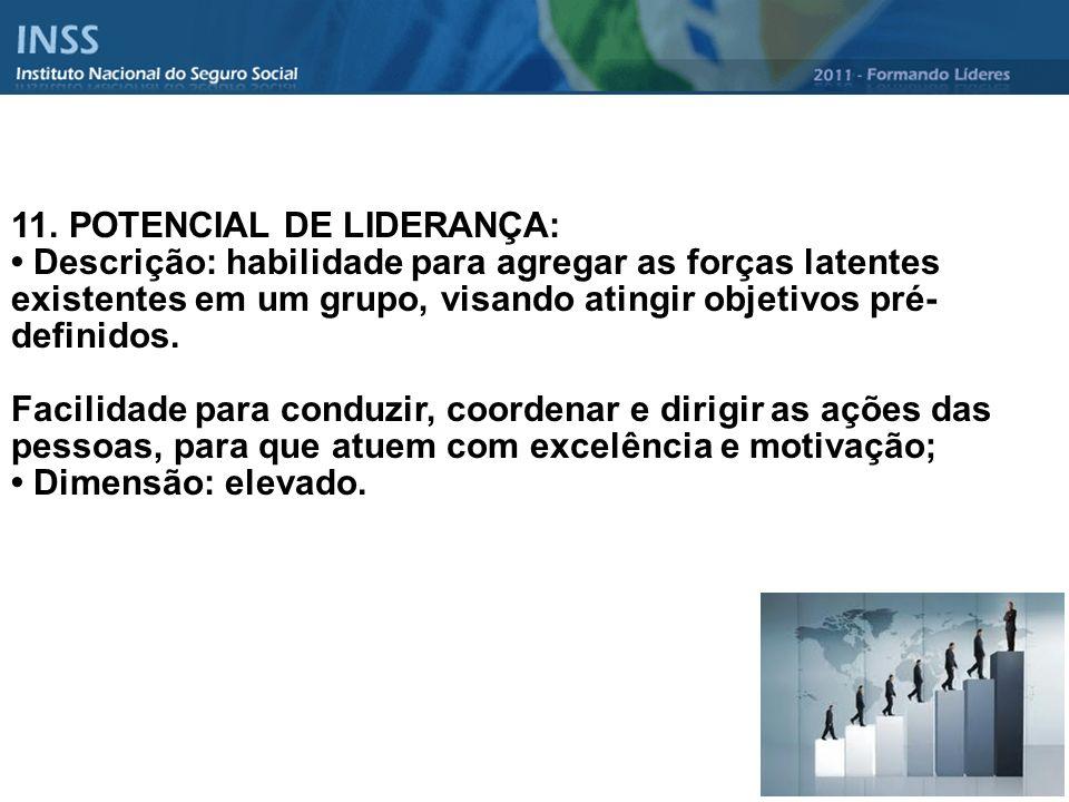11. POTENCIAL DE LIDERANÇA: