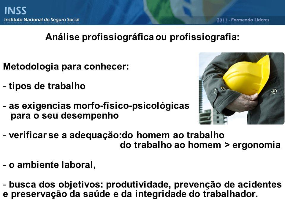 Análise profissiográfica ou profissiografia: