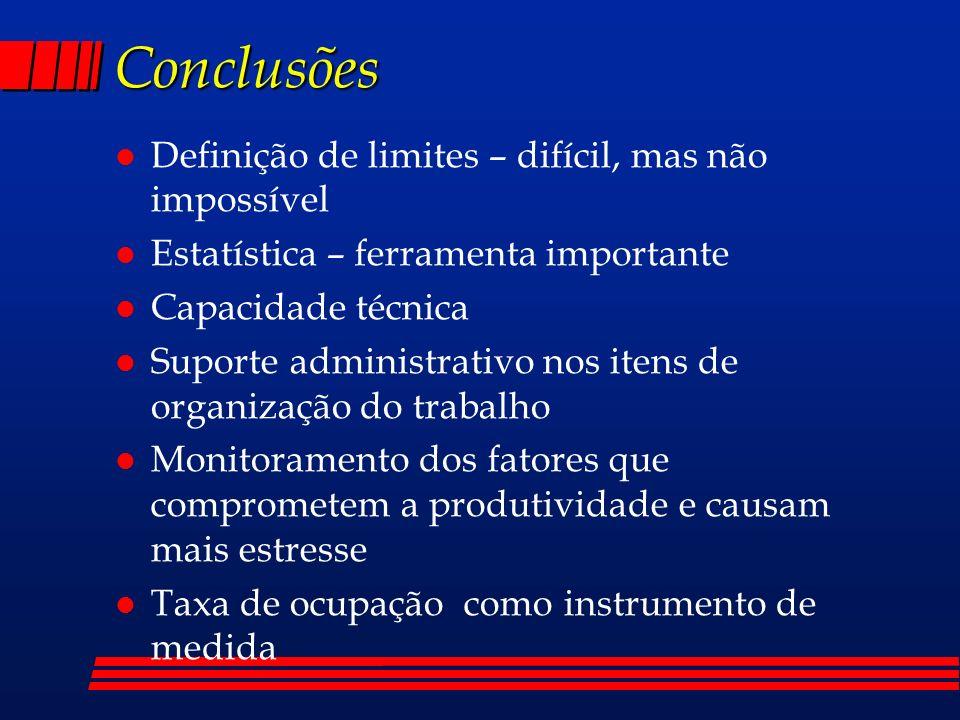 Conclusões Definição de limites – difícil, mas não impossível