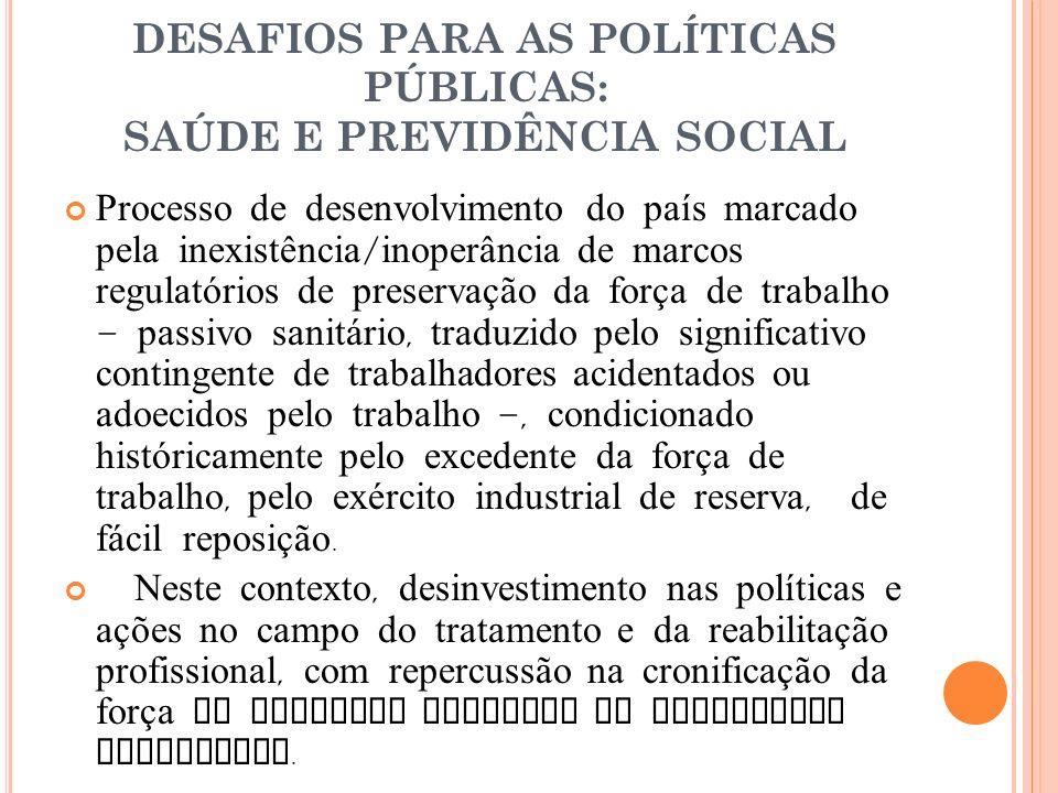 DESAFIOS PARA AS POLÍTICAS PÚBLICAS: SAÚDE E PREVIDÊNCIA SOCIAL