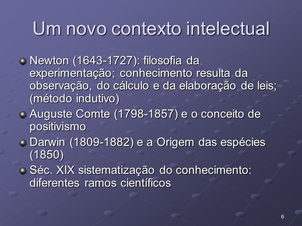 Um novo contexto intelectual
