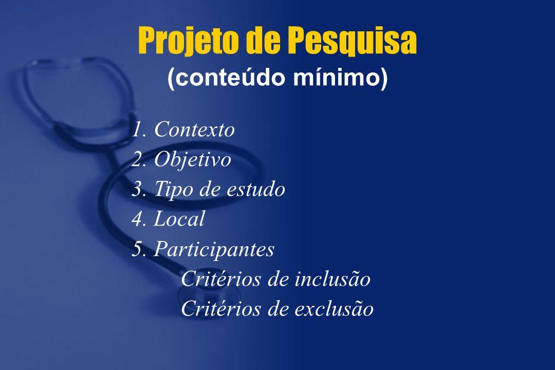 Projeto de Pesquisa (conteúdo mínimo)