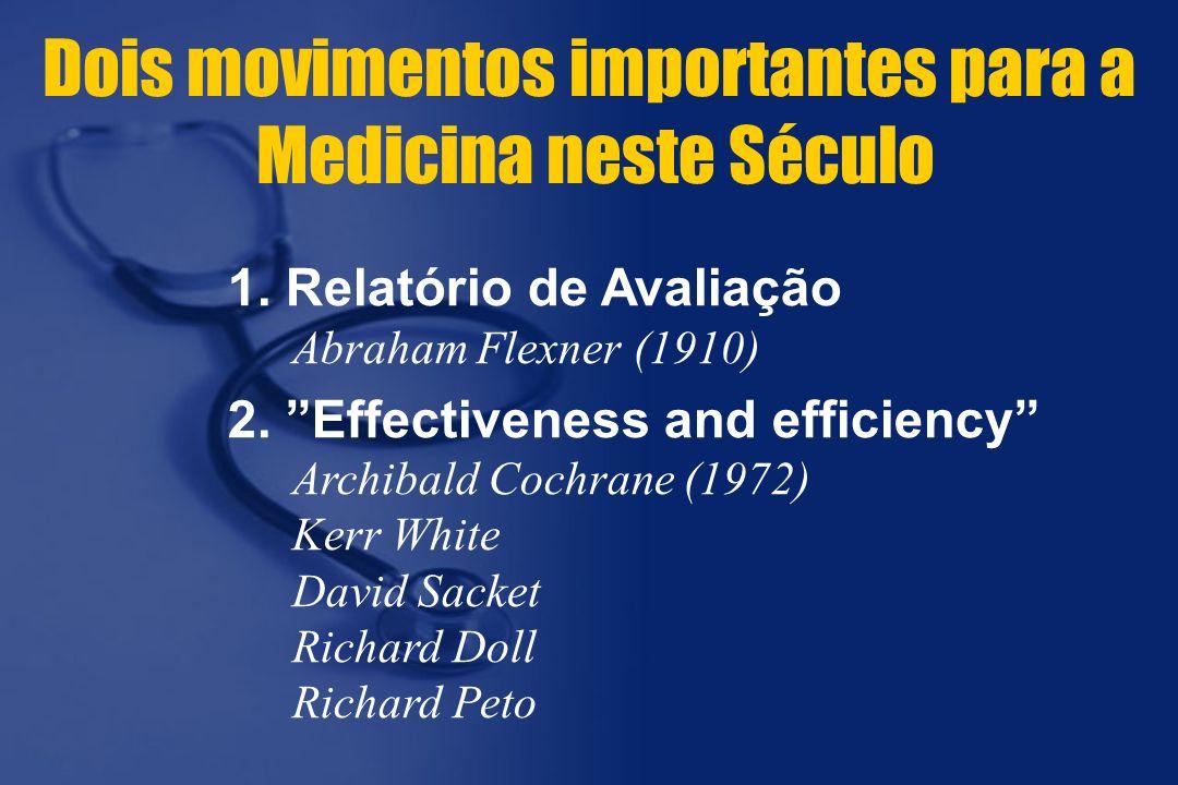 Dois movimentos importantes para a Medicina neste Século