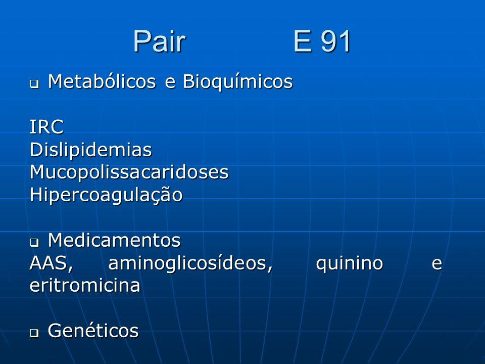 Pair E 91 Metabólicos e Bioquímicos IRC Dislipidemias