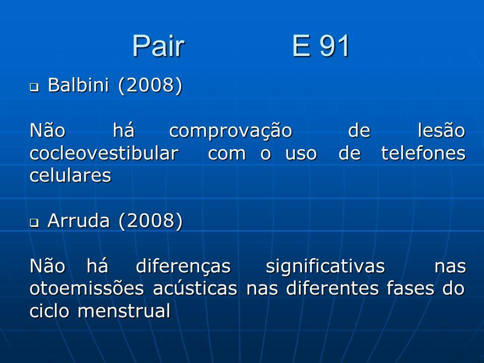 Pair E 91 Balbini (2008) Não há comprovação de lesão