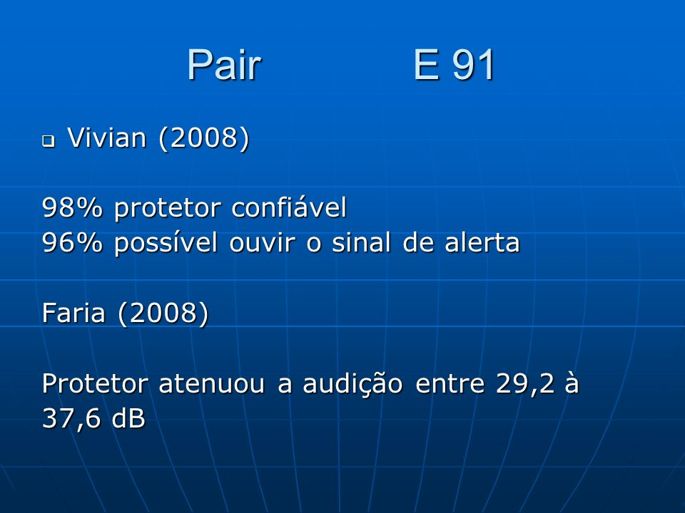 Pair E 91 Vivian (2008) 98% protetor confiável