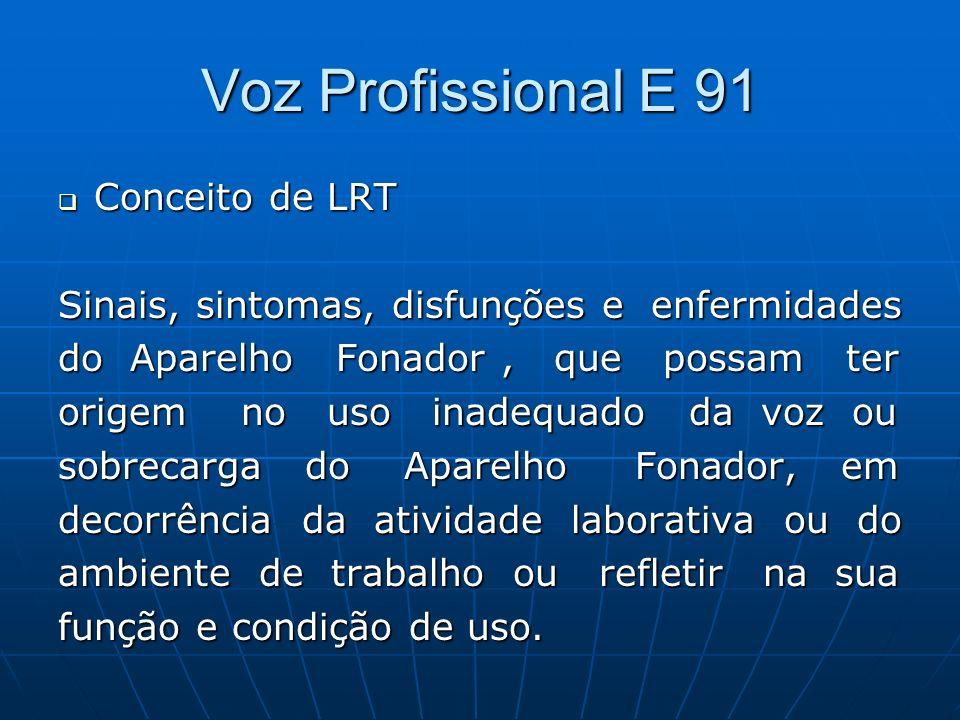 Voz Profissional E 91 Conceito de LRT