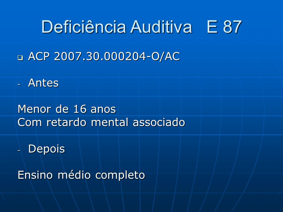 Deficiência Auditiva E 87