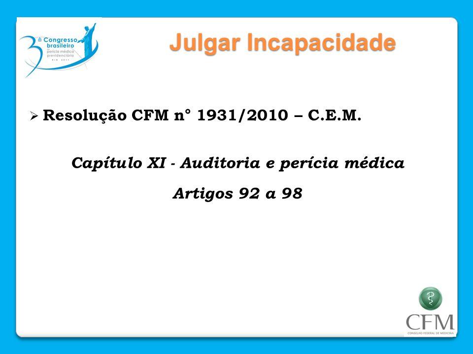 Capítulo XI - Auditoria e perícia médica