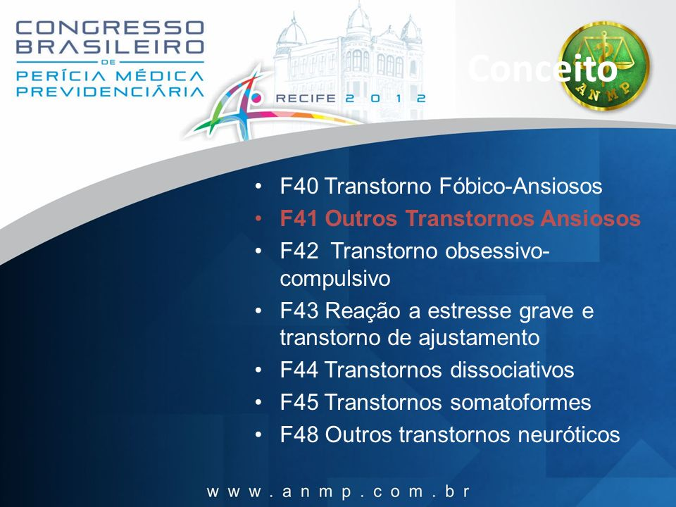 Conceito F40 Transtorno Fóbico-Ansiosos
