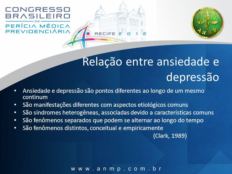 Relação entre ansiedade e depressão