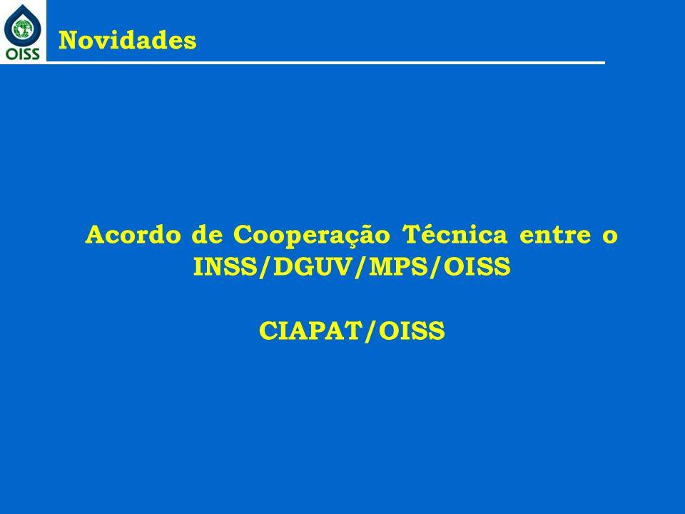 Acordo de Cooperação Técnica entre o INSS/DGUV/MPS/OISS