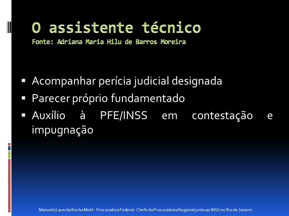 O assistente técnico Fonte: Adriana Maria Hilu de Barros Moreira