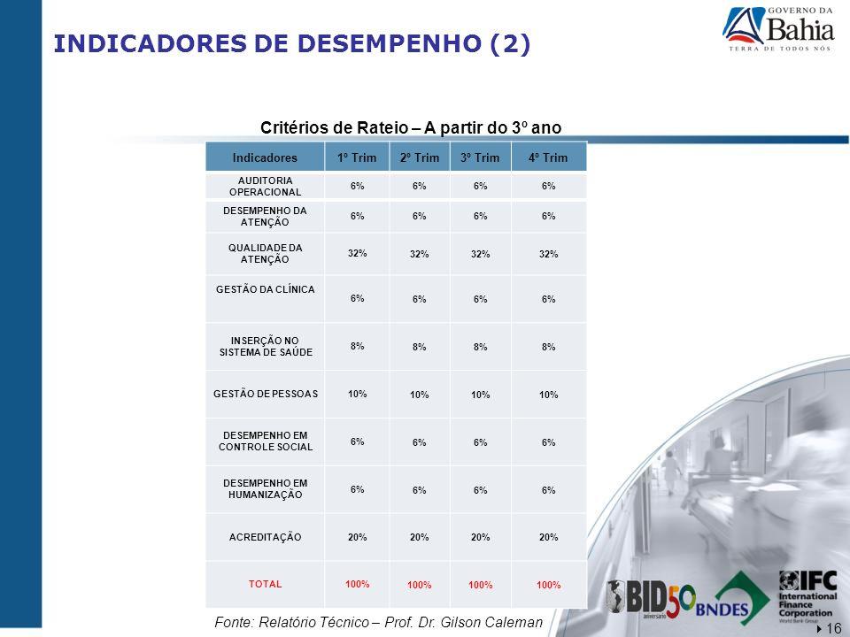 INDICADORES DE DESEMPENHO (2)