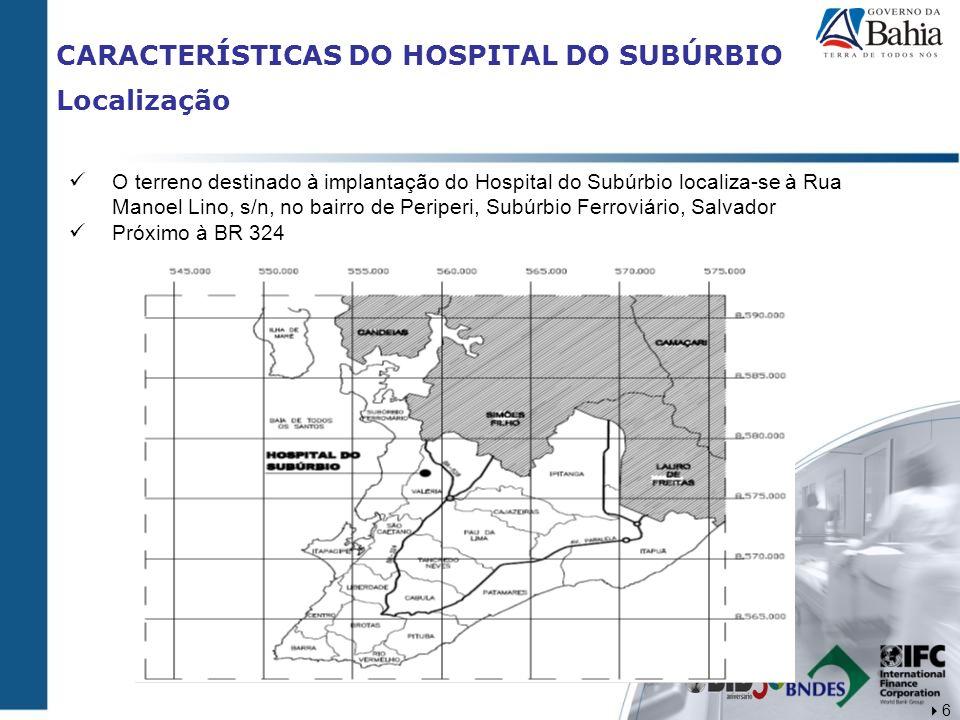 CARACTERÍSTICAS DO HOSPITAL DO SUBÚRBIO Localização