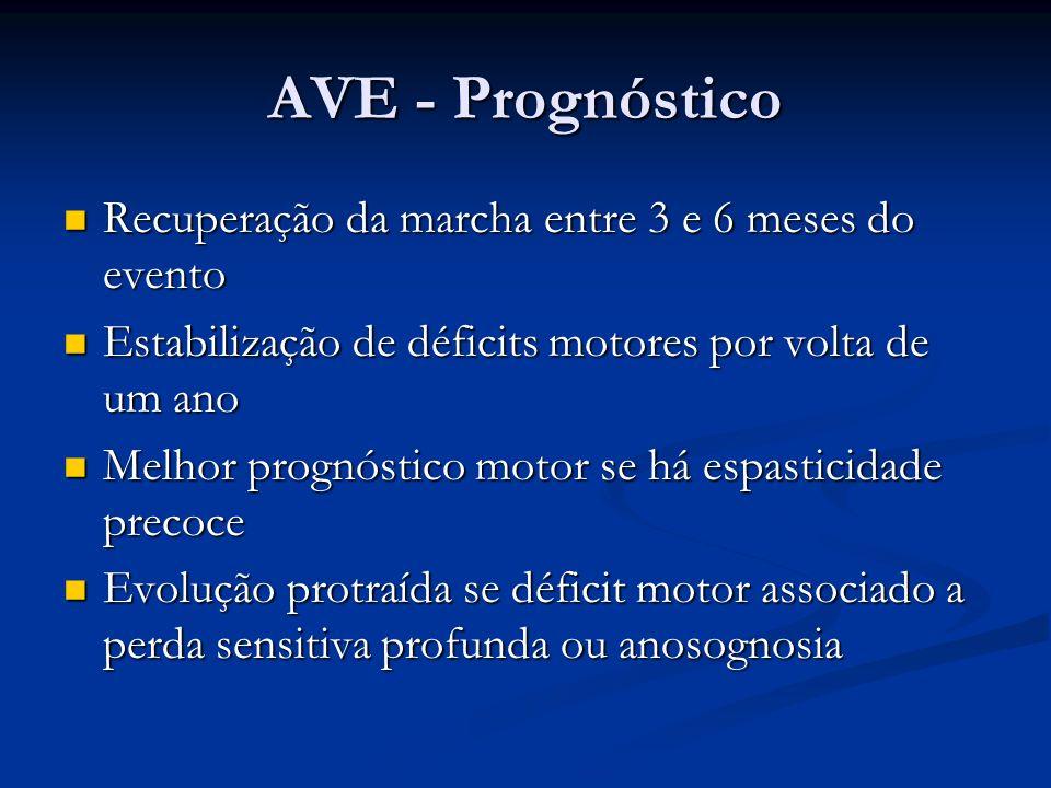 AVE - Prognóstico Recuperação da marcha entre 3 e 6 meses do evento