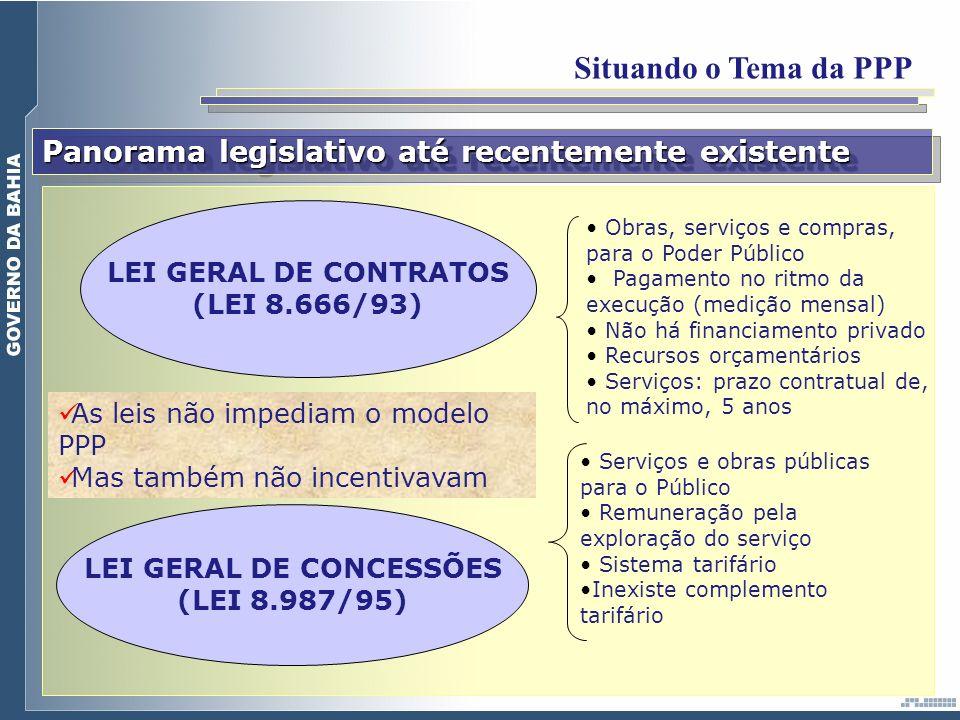 LEI GERAL DE CONCESSÕES