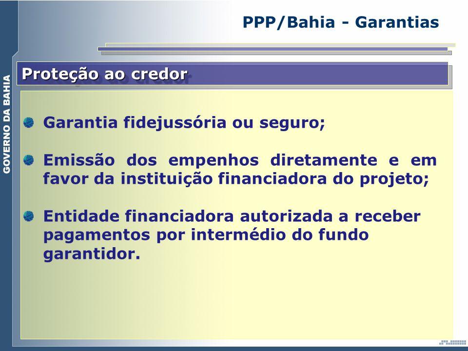 Garantia fidejussória ou seguro;