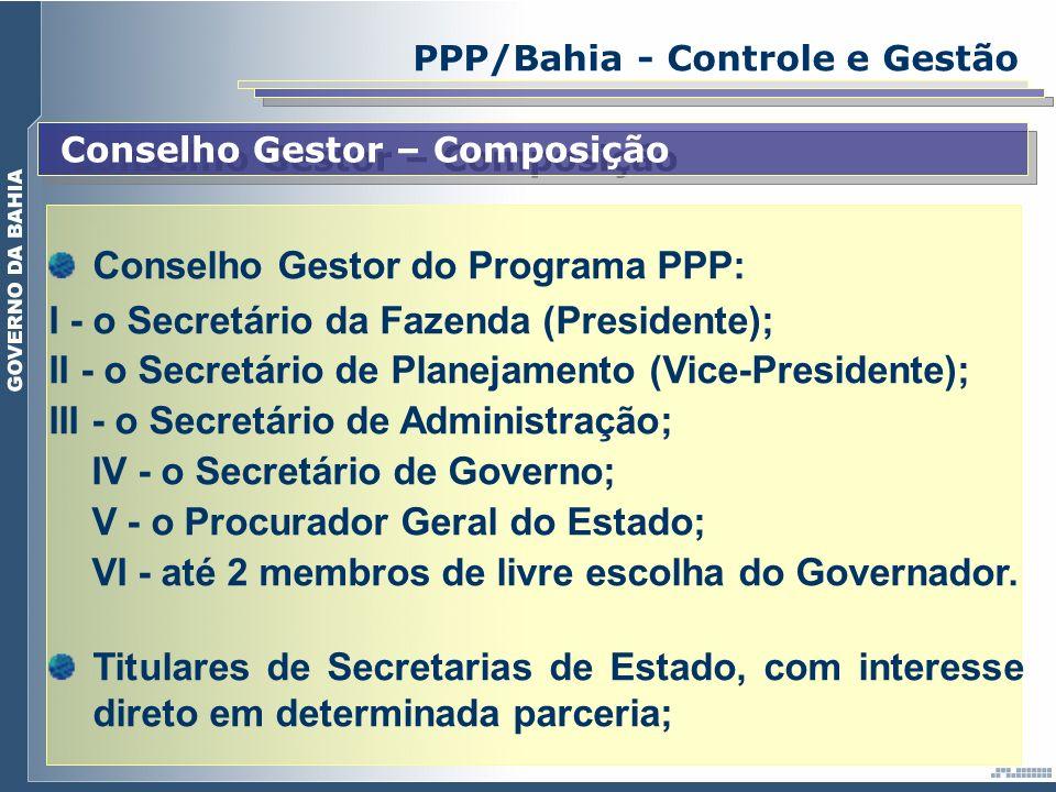 Conselho Gestor do Programa PPP: