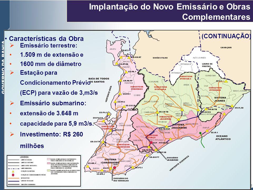 Implantação do Novo Emissário e Obras Complementares