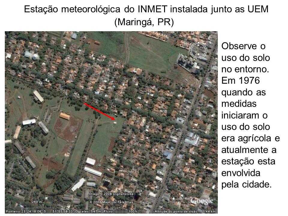 Estação meteorológica do INMET instalada junto as UEM (Maringá, PR)