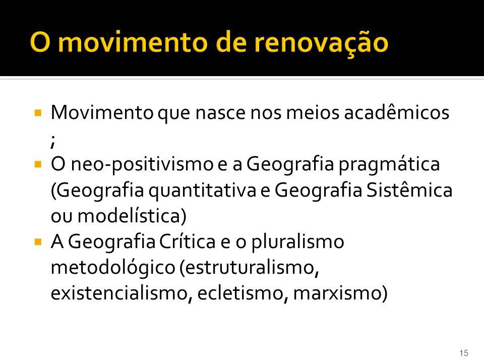 O movimento de renovação