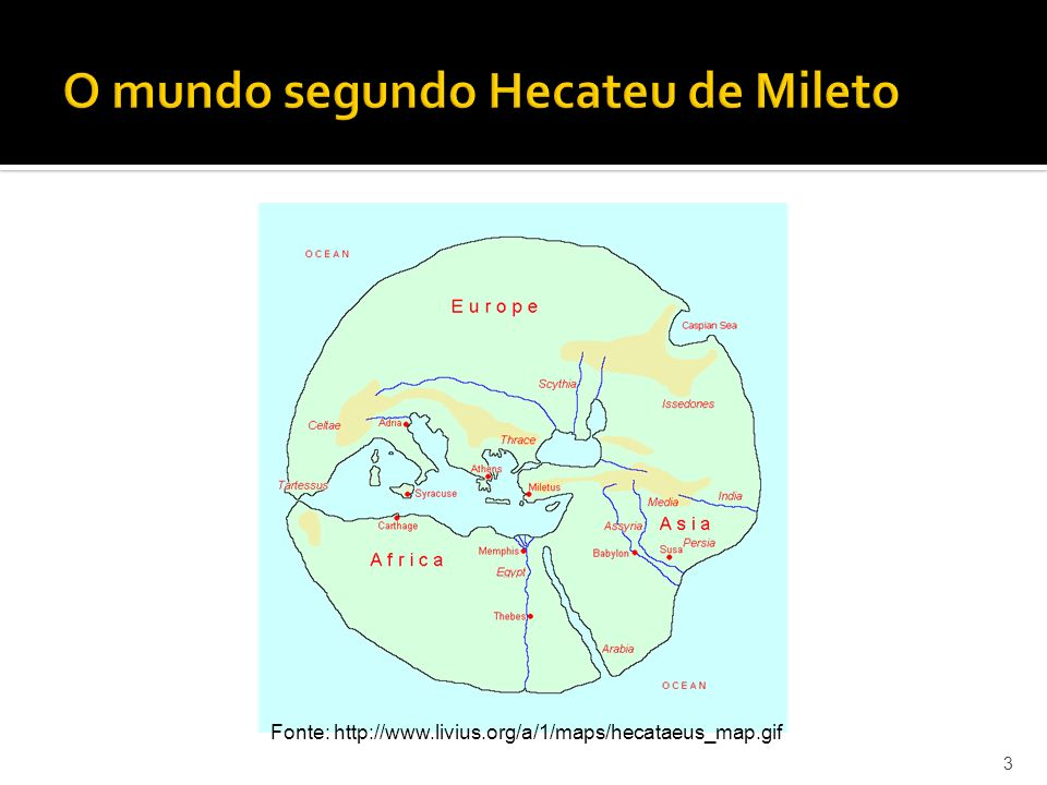 O mundo segundo Hecateu de Mileto