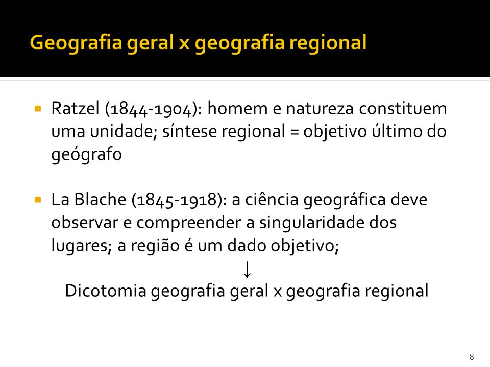 Geografia geral x geografia regional
