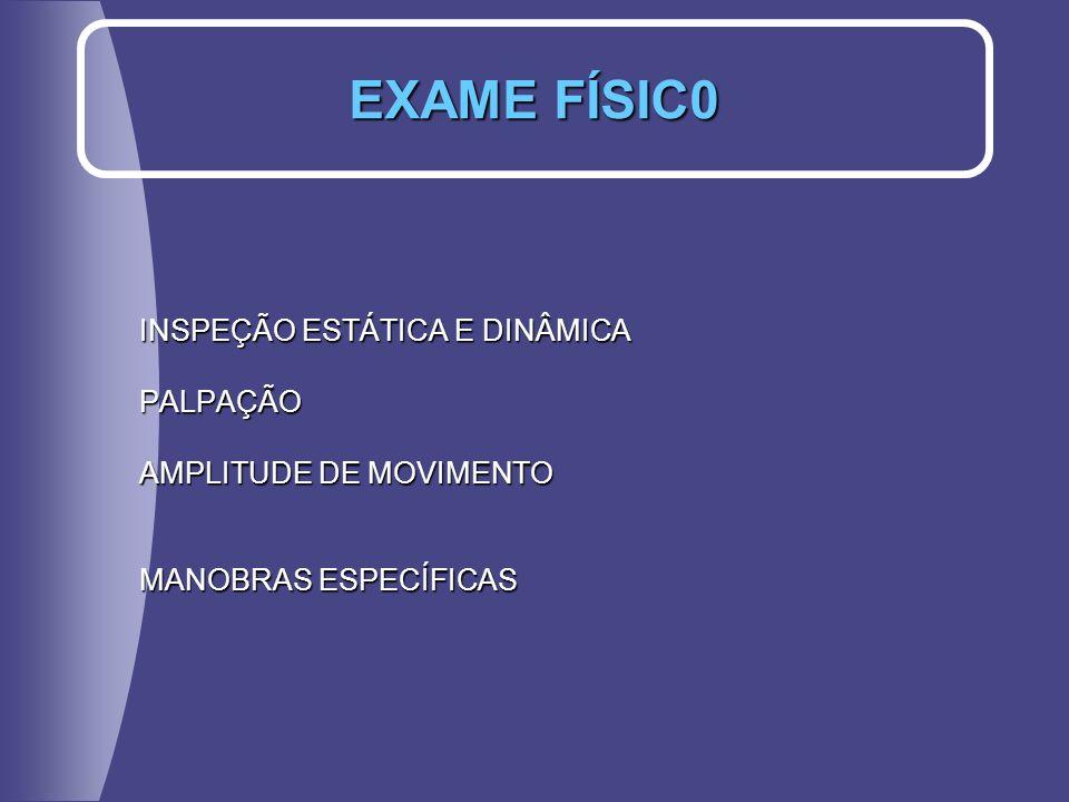 EXAME FÍSIC0 INSPEÇÃO ESTÁTICA E DINÂMICA PALPAÇÃO