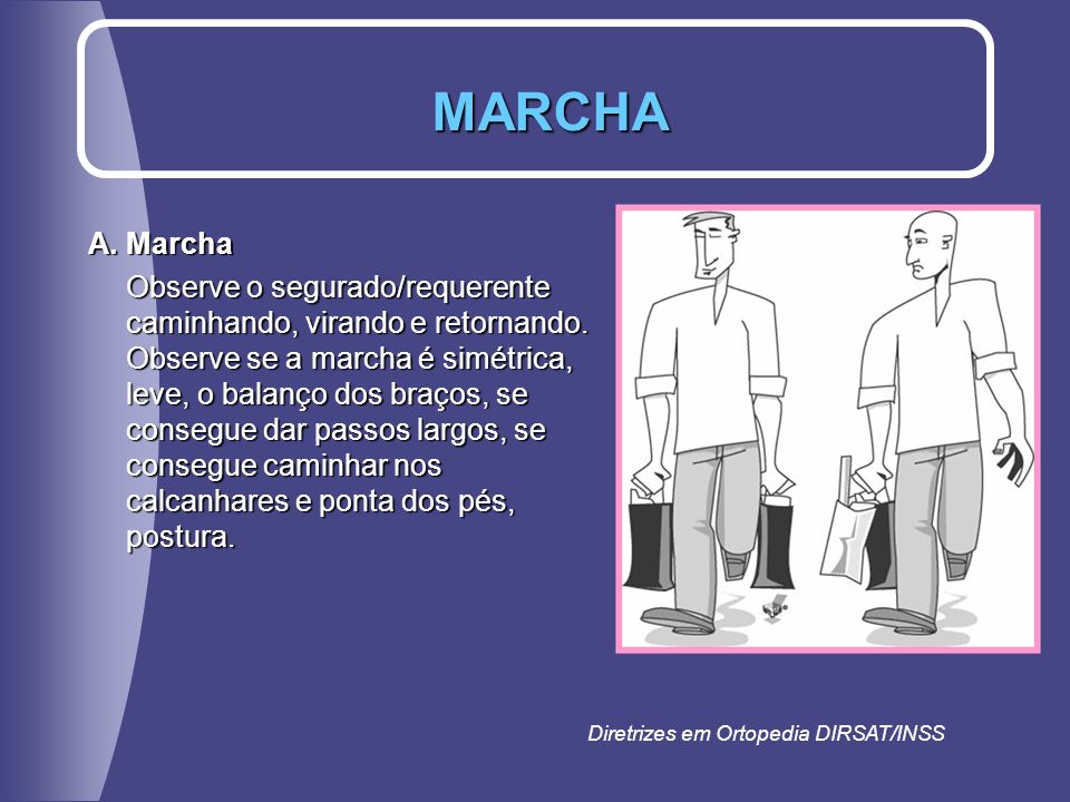 MARCHA A. Marcha.