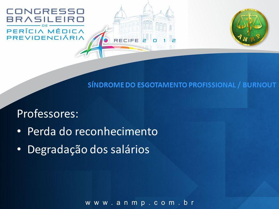 SÍNDROME DO ESGOTAMENTO PROFISSIONAL / BURNOUT