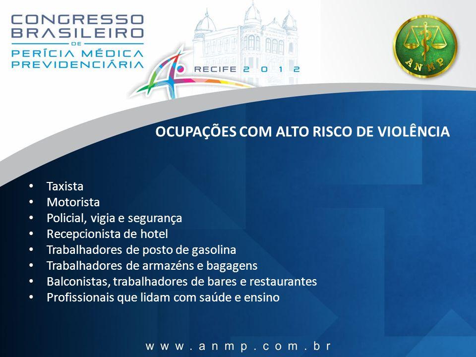 OCUPAÇÕES COM ALTO RISCO DE VIOLÊNCIA