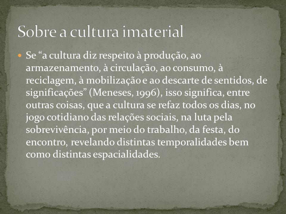 Sobre a cultura imaterial